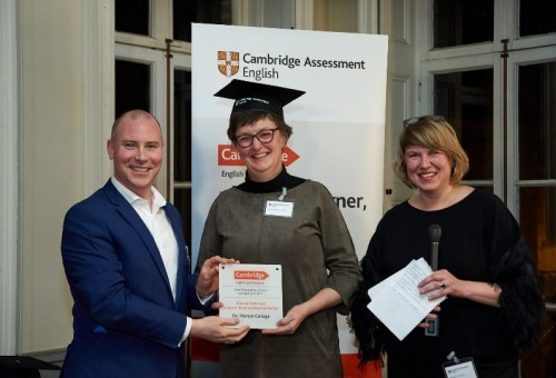Pierson winnaar Cambridge English Preparation Centre Awards
